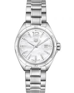 TAG Heuer Ladies Formula 1 Quartz White Mother Of Pearl Dial Bracelet Watch WBJ1418.BA0664