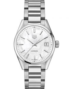 TAG Heuer Ladies Carrera Quartz Silver Bracelet Watch WBK1311.BA0652