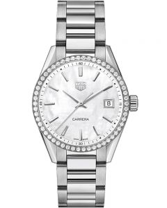 TAG Heuer Ladies Carrera Quartz Silver Diamond Bracelet Watch WBK1316.BA0652