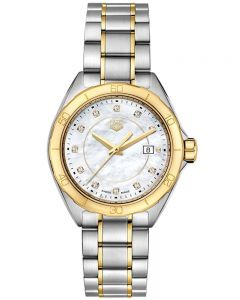 TAG Heuer Ladies Formula 1 Mother of Pearl Diamond Dial Two Tone Bracelet Watch WBJ1421.BB0648