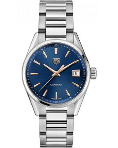 TAG Heuer Ladies Carrera Quartz Blue Dial Bracelet Watch WBK1312.BA0562