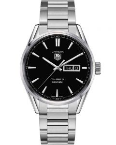 TAG Heuer Mens Carrera Calibre 5 Day Date Bracelet Watch WAR201A.BA0723