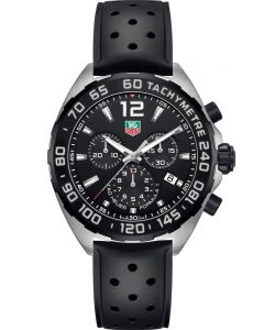 TAG Heuer Mens Formula 1 Quartz Chronograph Rubber Strap Watch CAZ1010.FT8024