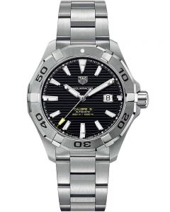 TAG Heuer Mens Aquaracer Calibre 5 Black Dial Bracelet Watch WAY2010.BA0927