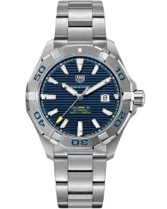 TAG Heuer Mens Aquaracer Calibre 5 Blue Dial Bracelet Watch WAY2012.BA0927