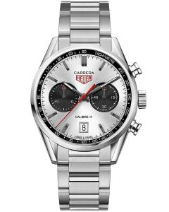 TAG Heuer Mens Carrera Calibre 17 Chronograph Bracelet Watch CV211E.BA0739