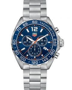 TAG Heuer Mens Formula 1 Quartz Chronograph Blue Dial Bracelet Watch CAZ1014.BA0842