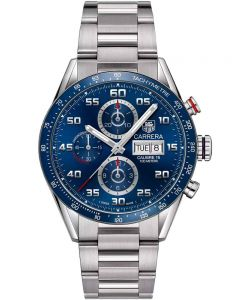 TAG Heuer Mens Carrera Calibre 16 Blue Bracelet Watch CV2A1V.BA0738