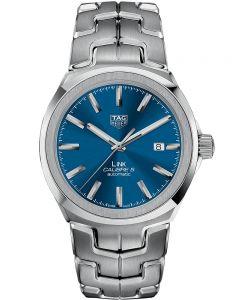TAG Heuer Mens Link Calibre 5 Blue Bracelet Watch WBC2112.BA0603