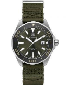 TAG Heuer Mens Aquaracer Exclusive Khaki Strap Watch WAY101E.FC8222