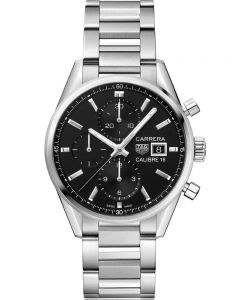 TAG Heuer Mens Carrera Calibre 16 Black Chronograph Bracelet Watch CBK2110.BA0715