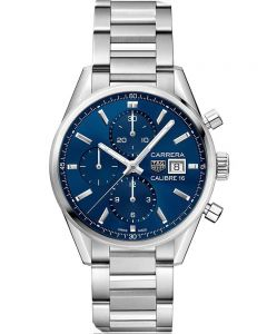 TAG Heuer Mens Carrera Calibre 16 Blue Chronograph Bracelet Watch CBK2112.BA0715