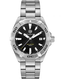 TAG Heuer Mens Aquaracer Quartz Black Bracelet Watch WBD1110.BA0928