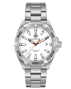 TAG Heuer Mens Aquaracer Quartz White Bracelet Watch WBD1111.BA0928