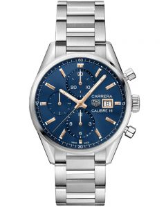 TAG Heuer Carrera Calibre 16 Blue Bracelet Watch CBK2115.BA0715