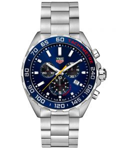 TAG Heuer Mens F1 Aston Martin Red Bull Racing Special Edition Blue Dial Stainless Steel Bracelet Watch CAZ101AB.BA0842