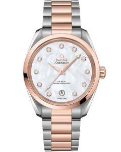 OMEGA Ladies Seamaster Aqua Terra Diamond Two-Tone Bracelet Watch 220.20.34.20.52.001