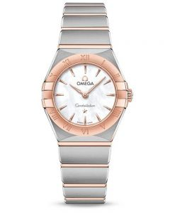 OMEGA Ladies Constellation Manhattan Mother Of Pearl Dial Two-Tone Bracelet Watch 131.20.25.60.05.001