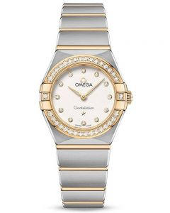 OMEGA Ladies Constellation Manhattan Diamond Set Bezel Two-Tone Bracelet Watch 131.25.25.60.52.002