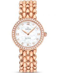 Omega Ladies De Ville Prestige Quartz 18ct Gold Bracelet Watch 424.55.27.60.55.004