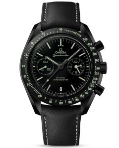 OMEGA Mens Speedmaster Moonwatch Black Leather Strap Watch 311.92.44.51.01.004