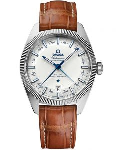 OMEGA Mens Constellation Globemaster Brown Leather Strap Watch 130.33.41.22.02.001