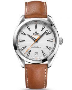 Omega Mens Seamaster Aqua Terra Leather Leather Strap Watch 220.12.41.21.02.001