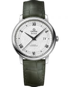 Omega Mens De Ville Prestige Co-Axial Leather Strap Watch 424.13.40.20.02.006