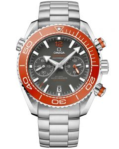 OMEGA Mens Seamaster Planet Ocean Co-Axial Master Chronometer Chronograph Grey & Orange Dial Bracelet Watch 215.30.46.51.99.001
