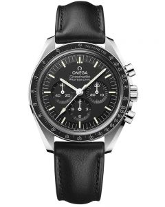 OMEGA Mens Speedmaster Moonwatch Professional Co-Axial Master Chronometer Black Leather Strap Watch 310.32.42.50.01.002