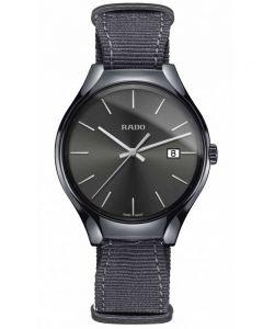 Rado Mens True Quartz Grey Fabric Strap Watch R27232106 L