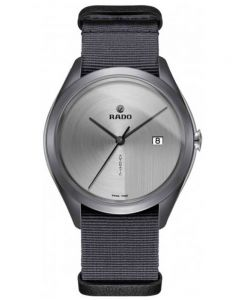 Rado Mens HyperChrome Automatic Ultra-Light Grey Fabric Strap Watch R32069115 XL