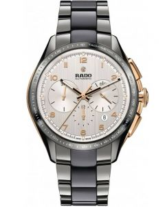 Rado Mens HyperChrome Automatic Chronograph Grey Ceramic Bracelet Watch R32108102