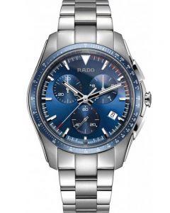 Rado Mens HyperChrome Quartz Chronograph Navy Blue Dial Bracelet Watch R32259203