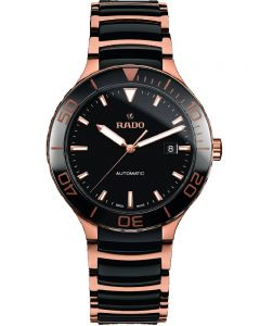 Rado Mens Centrix Automatic Black and Rose Ceramic Bracelet Watch R30001152