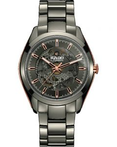 Rado Mens HyperChrome Automatic Open Heart Grey Ceramic Bracelet Watch R32021102