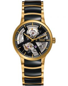 Rado Centrix Automatic Open Heart Two Tone Skeleton Dial Ceramic Bracelet Watch R30180162