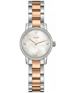 Rado Ladies Coupole Classic Diamonds Quartz Two Tone Bracelet Watch R22892942 XS
