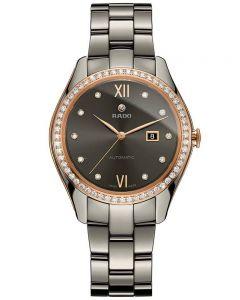 Rado Ladies HyperChrome Diamonds Automatic Grey Ceramic Bracelet Watch R32523702 M