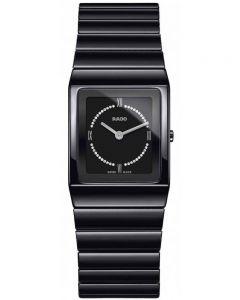 Rado Ladies Ceramica Diamonds Quartz Black Ceramic Bracelet Watch R21702732