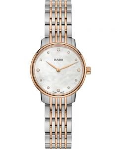 Rado Ladies Coupole Classic Diamonds Quartz Two Tone Bracelet Watch R22897923