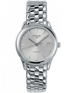 Longines Mens Flagship Silver Dial Bracelet Watch L47744726