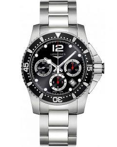 Longines Mens HydroConquest Automatic Chronograph Black Dial Bracelet Watch L37444566