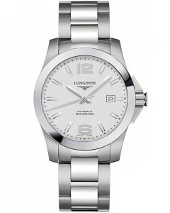 Longines Mens Conquest Silver Dial Bracelet Watch L36764766