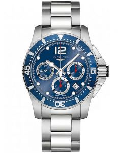 Longines Mens HydroConquest Automatic Chronograph Blue Dial Bracelet Watch L37444966