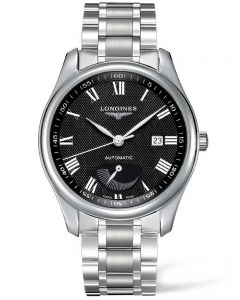 Longines Mens Master Power Reserve Black Dial Bracelet Watch L29084516