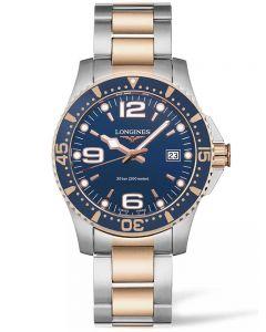 Longines Mens HydroConquest Quartz Blue Dial Two Colour Bracelet Watch L37403987