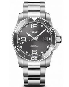 Longines Mens HydroConquest Automatic Grey Dial Bracelet Watch L37814766