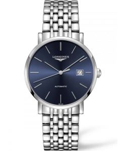 Longines Mens Elegant Blue Dial Bracelet Watch L49104926