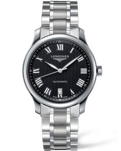 Longines Mens Master Black Dial Bracelet Watch L26284516